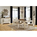 Signature Design by Ashley Realyn Formal Dining Room Group - Item Number: D743 Dining Room Group 10
