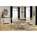 Signature Design by Ashley Realyn Formal Dining Room Group - Item Number: D743 Dining Room Group 11