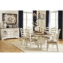 Signature Design by Ashley Claire Formal Dining Room Group - Item Number: D743 Dining Room Group 2