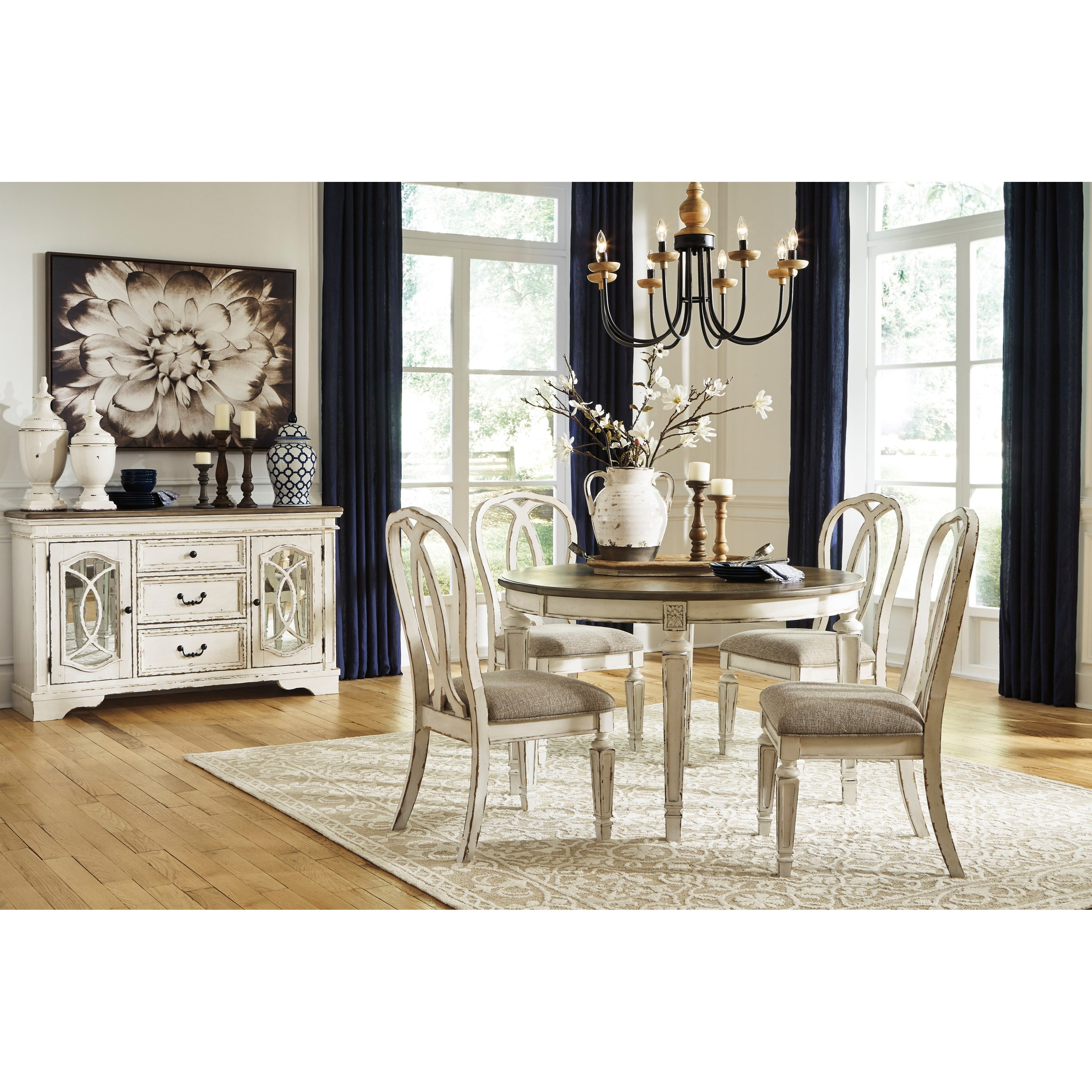 Signature Design By Ashley Realyn Casual Dining Room Group