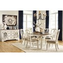 Signature Design by Ashley Realyn Formal Dining Room Group - Item Number: D743 Dining Room Group 4