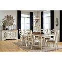 Signature Design by Ashley Realyn Formal Dining Room Group - Item Number: D743 Dining Room Group 5