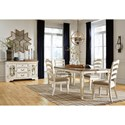 Signature Design by Ashley Realyn Casual Dining Room Group - Item Number: D743 Dining Room Group 6