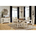 Signature Design by Ashley Realyn Formal Dining Room Group - Item Number: D743 Dining Room Group 7