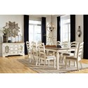 Signature Design by Ashley Realyn Formal Dining Room Group - Item Number: D743 Dining Room Group 8