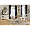 Signature Design by Ashley Claire Casual Dining Room Group - Item Number: D743 Dining Room Group 9