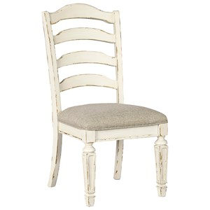 Realyn Dining Upholstered Side Chair Rotmans Dining