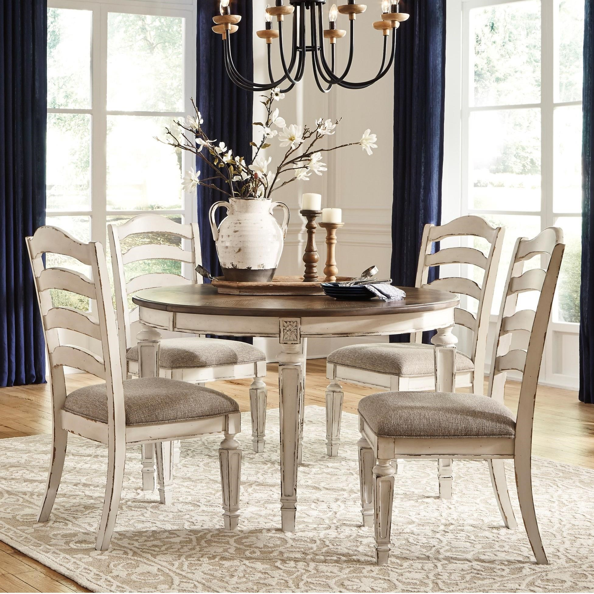 ashley furniture dining set with amazing | Signature Design by Ashley Realyn 5-Piece Round Table and ...