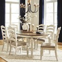 Signature Design by Ashley Realyn 7-Piece Round Table and Chair Set