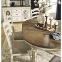 Signature Design by Ashley Realyn 7-Piece Round Table and Chair Set - Server Sold Separately