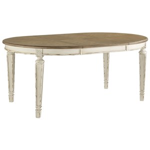Signature Design by Ashley Realyn Oval Dining Room Extension Table