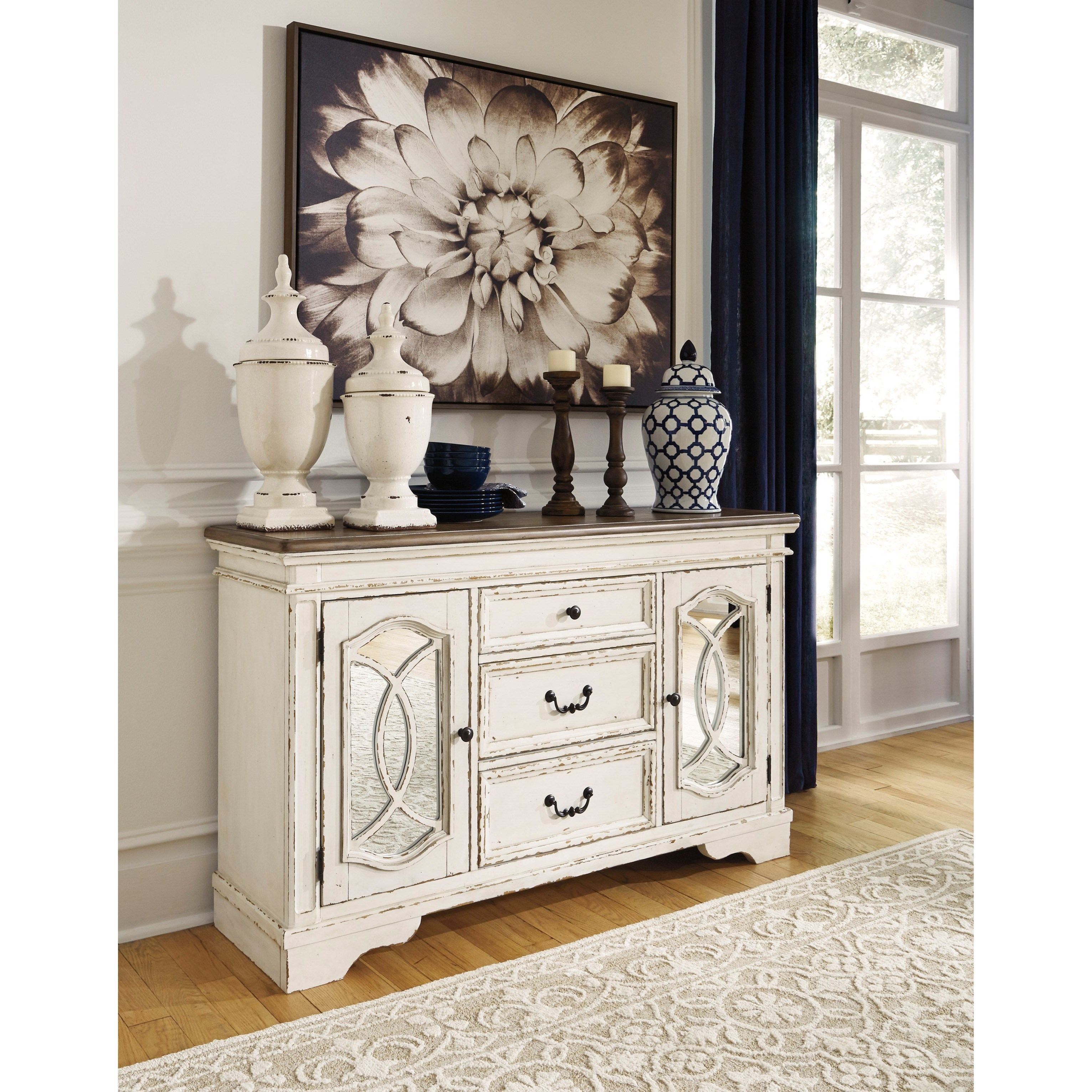 Ashley S Nest Decorating A Dining Room: Ashley (Signature Design) Realyn 3 Drawer 2 Door Dining