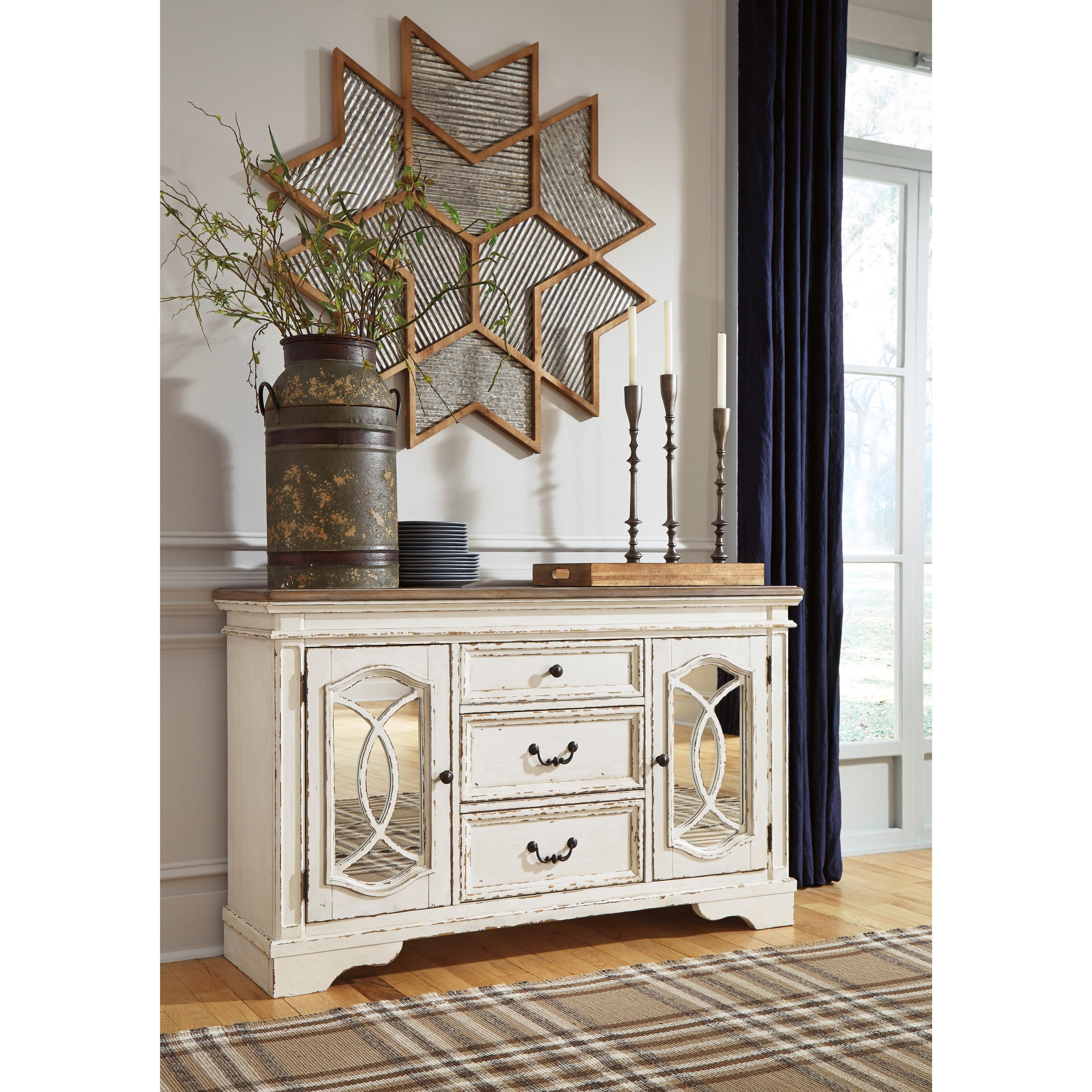 Ashley S Nest Decorating A Dining Room: Signature Design By Ashley Realyn D743-60 3 Drawer 2 Door