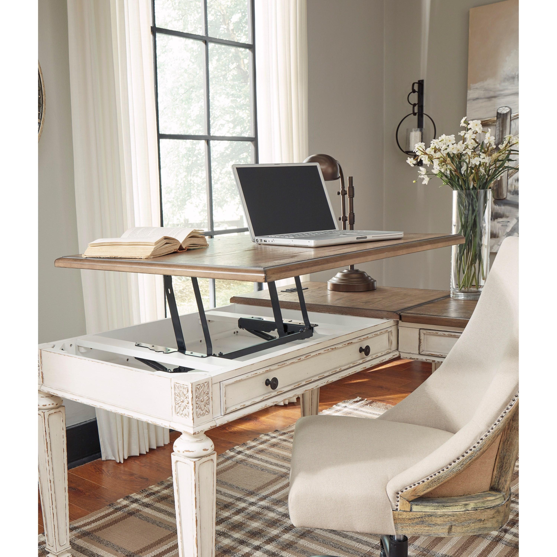 Ashley Furniture Upc Barcode: Ashley (Signature Design) Realyn L Shape Desk With Lift