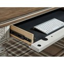 Signature Design by Ashley Realyn L Shape Desk with USB Charging Ports