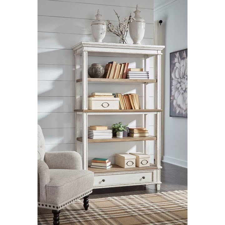 Signature Design By Ashley Realyn Open Shelf Bookcase With
