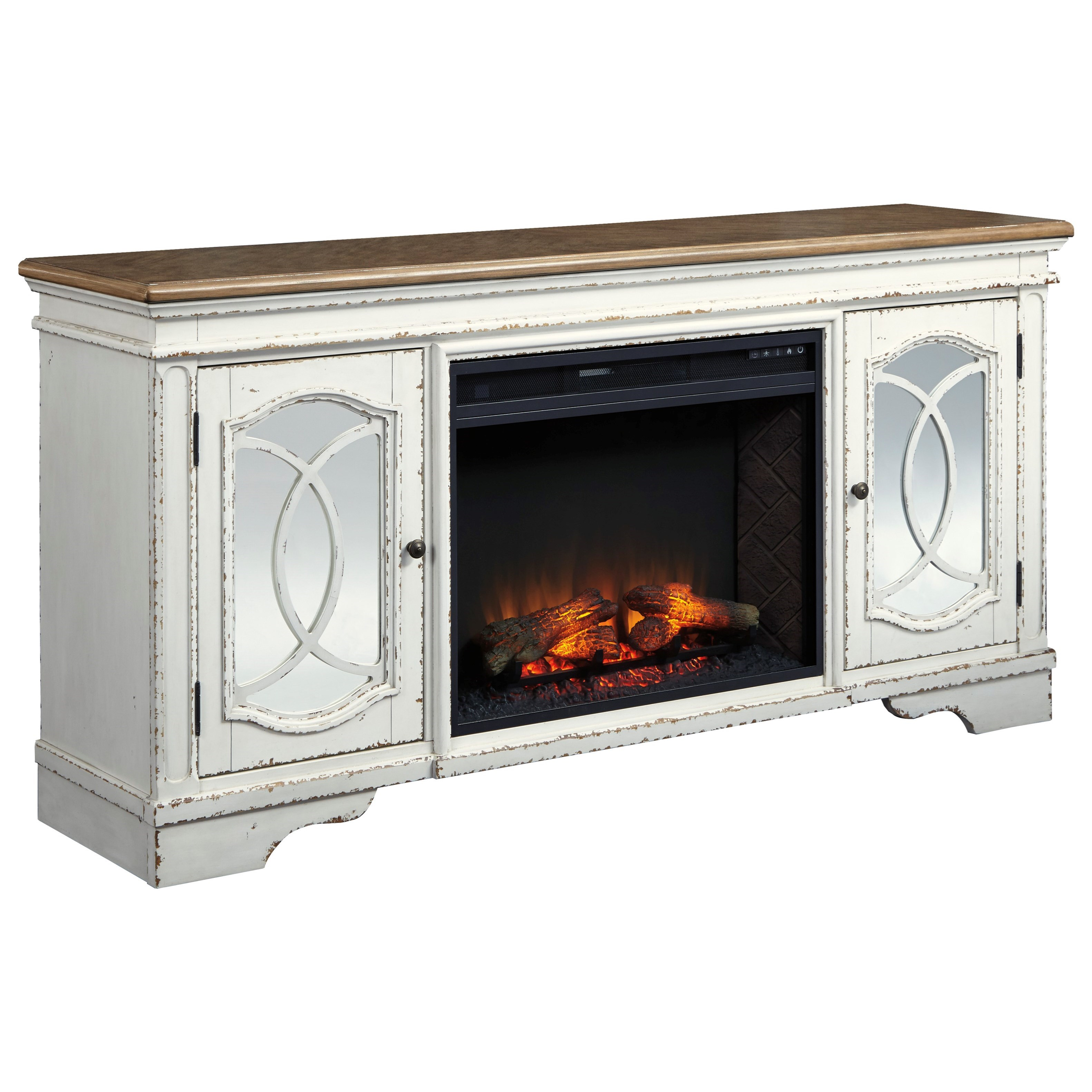 TV Stand with Fireplace Insert