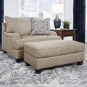 Signature Design by Ashley Reardon Chair and a Half and Ottoman - Item Number: 5600123+14