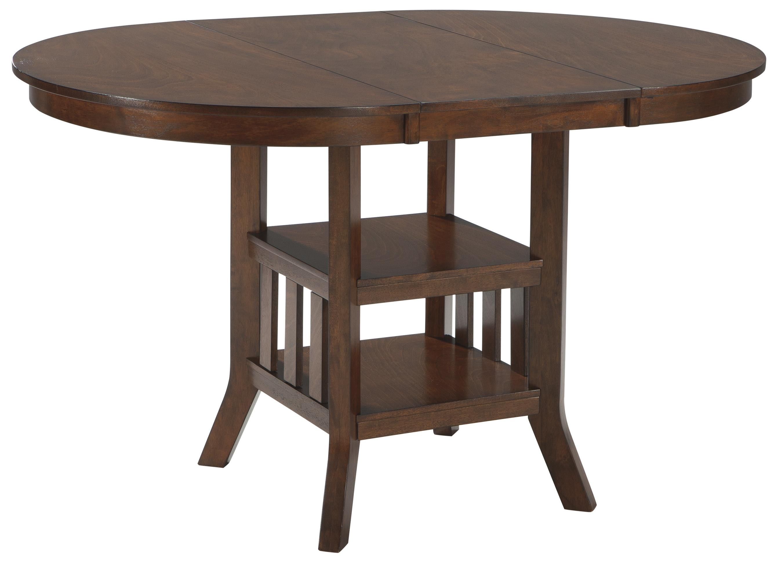 Signature Design by Ashley Renaburg Oval Dining Room Counter Extension Table - Item Number: D574-42