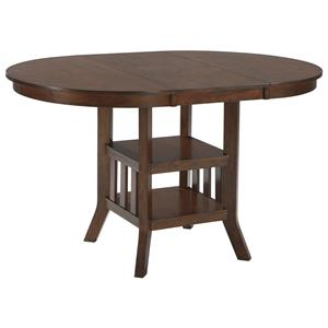 Signature Design by Ashley Renaburg Oval Dining Room Counter Extension Table