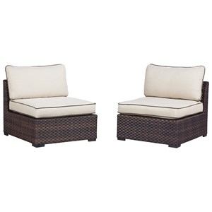 Signature Design by Ashley Renway Set of 2 Armless Chairs w/ Cushion