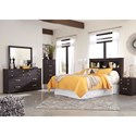 Signature Design by Ashley Reylow Queen Bedroom Group - Item Number: B555 Q Bedroom Group 2