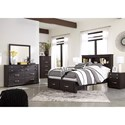 Signature Design by Ashley Reylow Queen Bedroom Group - Item Number: B555 Q Bedroom Group 3