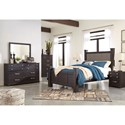 Signature Design by Ashley Reylow Queen Bedroom Group - Item Number: B555 Q Bedroom Group 4