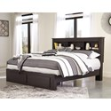 Signature Design by Ashley Reylow King Bookcase Bed with Storage Footboard