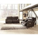 Signature Design by Ashley Ricmen Power Reclining Living Room Group - Item Number: U43701 Living Room Group 1