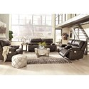 Signature Design by Ashley Ricmen Power Reclining Living Room Group - Item Number: U43701 Living Room Group 2
