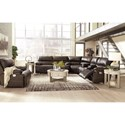 Signature Design by Ashley Ricmen Power Reclining Living Room Group - Item Number: U43701 Living Room Group 3