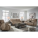 Signature Design by Ashley Ricmen Power Reclining Living Room Group - Item Number: U43702 Living Room Group 2