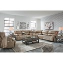 Signature Design by Ashley Ricmen Power Reclining Living Room Group - Item Number: U43702 Living Room Group 3
