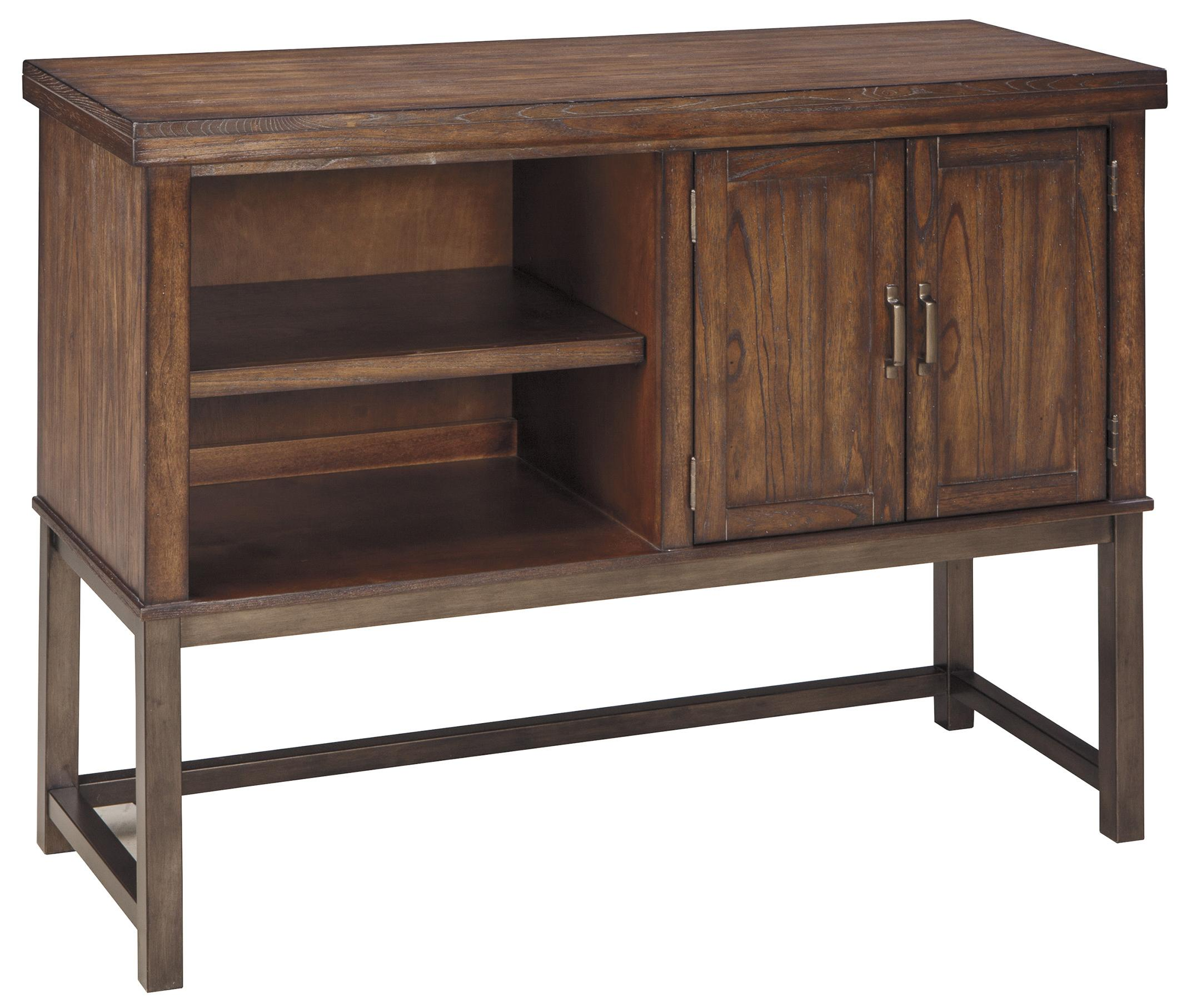 signature design by ashley riggerton dining room server with metal