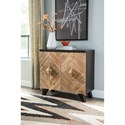 Signature Design by Ashley Robin Ridge Contemporary 2-Door Accent Cabinet