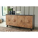 Signature Design by Ashley Robin Ridge Contemporary 4-Door Accent Cabinet