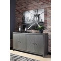 Signature Design by Ashley Rock Ridge Industrial 4-Door Accent Cabinet