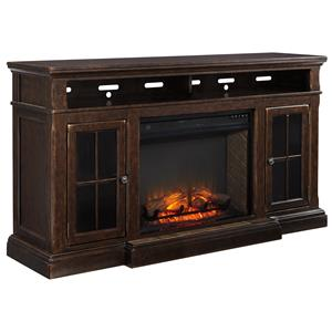 Signature Design by Ashley Roddinton Extra Large TV Stand w/ Fireplace Insert