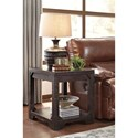 Signature Design by Ashley Rogness Rustic Rectangular End Table with Shelf