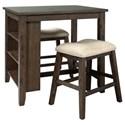 Signature Design by Ashley Rokane 3-Piece Rectangular Counter Table Set - Item Number: D397-113