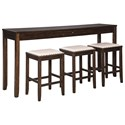 Signature Design by Ashley Rokane Counter Height Dining Set for Three - Item Number: D397-223