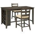 Signature Design by Ashley Rokane 3-Piece Rectangular Counter Table Set - Item Number: D397-32+2x124
