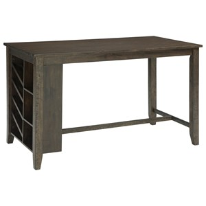 Signature Design by Ashley Rokane Rectangular Counter Table w/ Storage