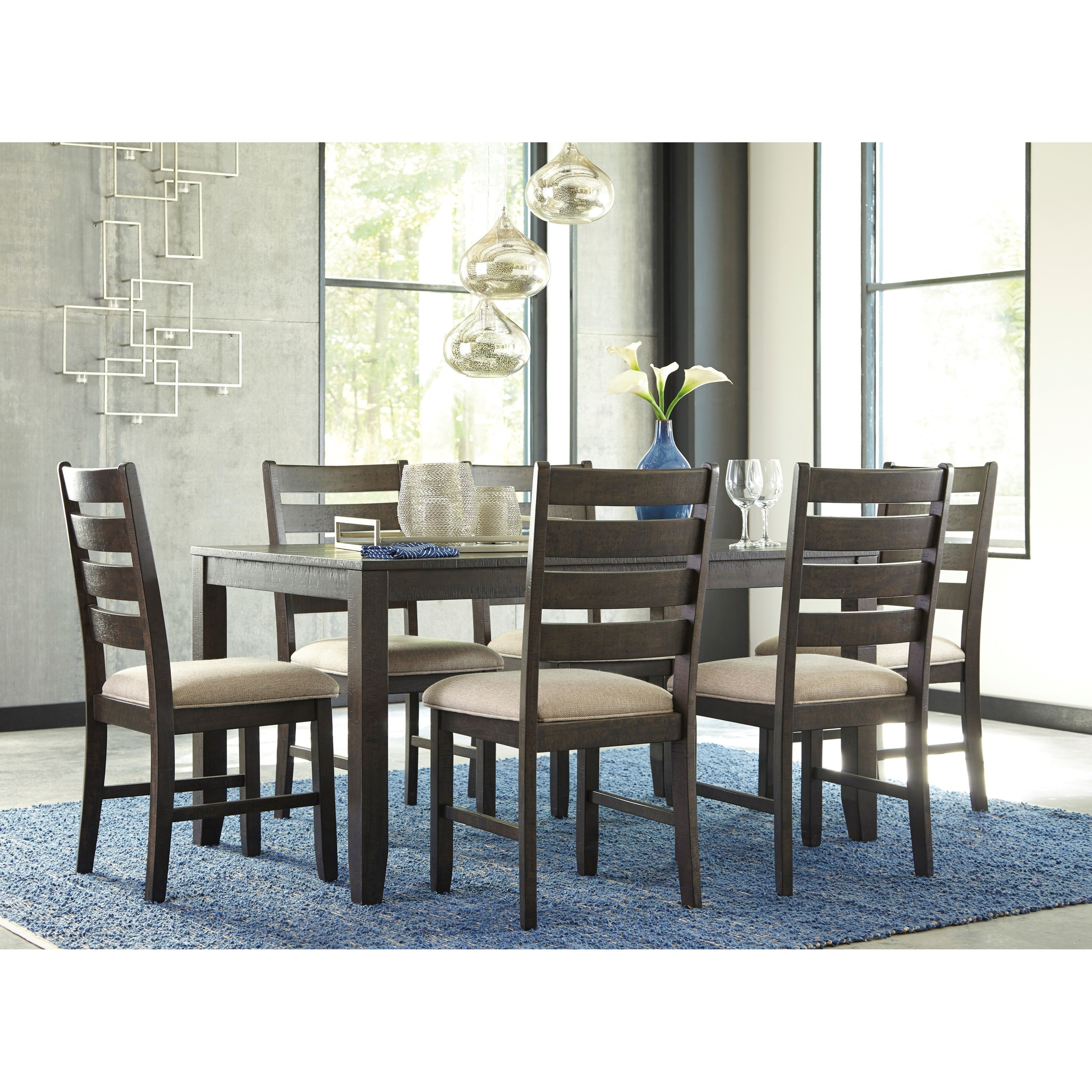 Ashley Furniture Dinette Set: Signature Design By Ashley Rokane D397-425 Contemporary 7
