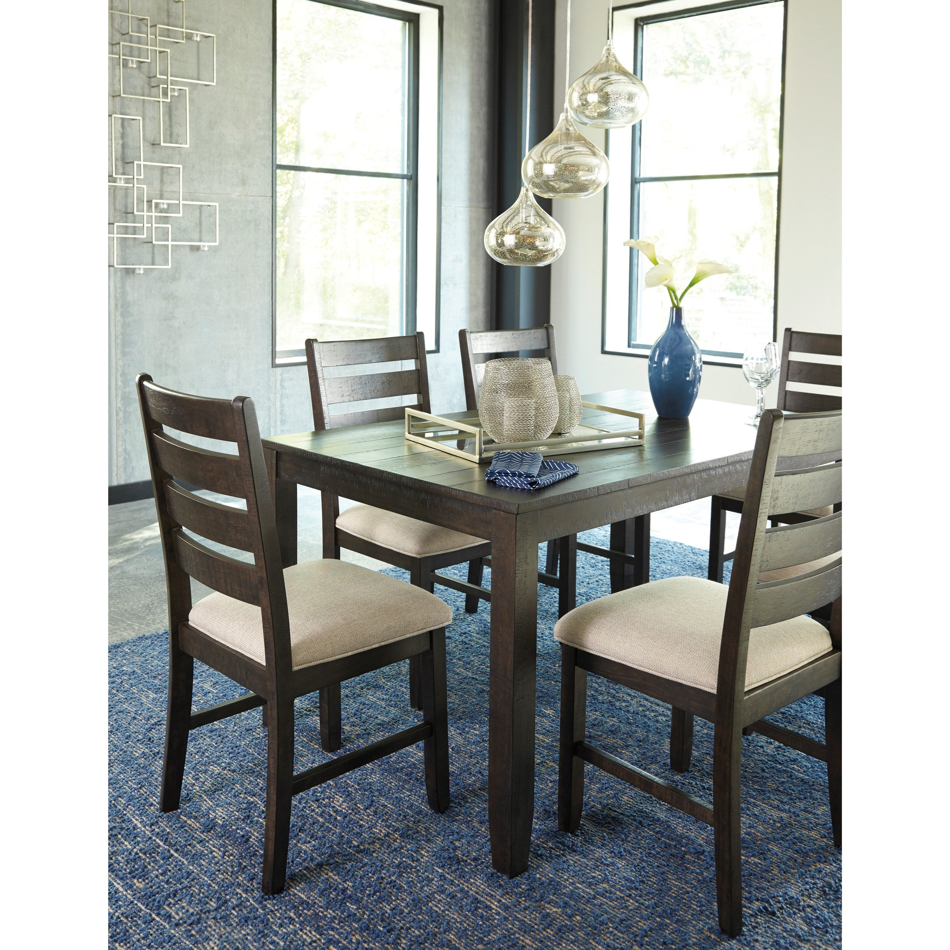 Ashley Furniture Dinette Set: Signature Design By Ashley Rokane Contemporary 7-Piece