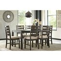 Signature Design by Ashley Rokane Contemporary 7-Piece Dining Room Table Set