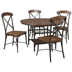 Signature Design by Ashley Rolena 5-Piece Round Dining Room Table Set