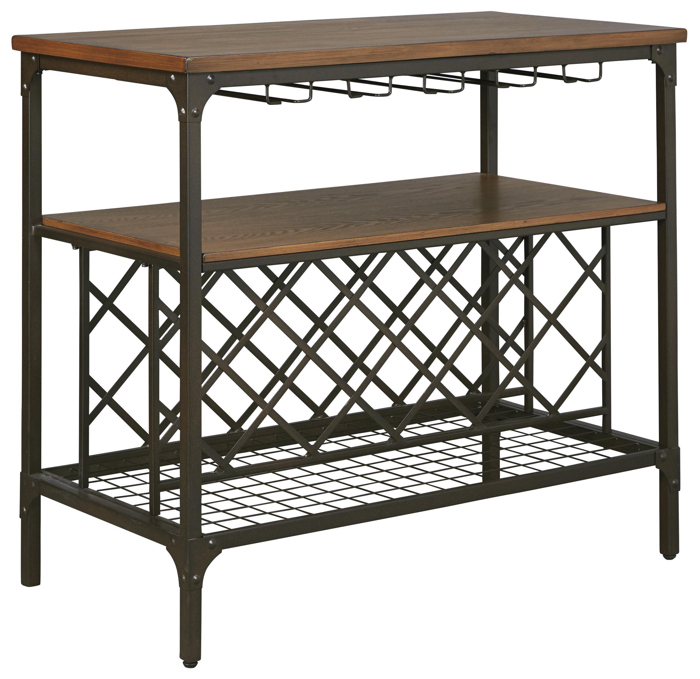 Signature Design by Ashley Rolena Metal/Wood Dining Room Server ...