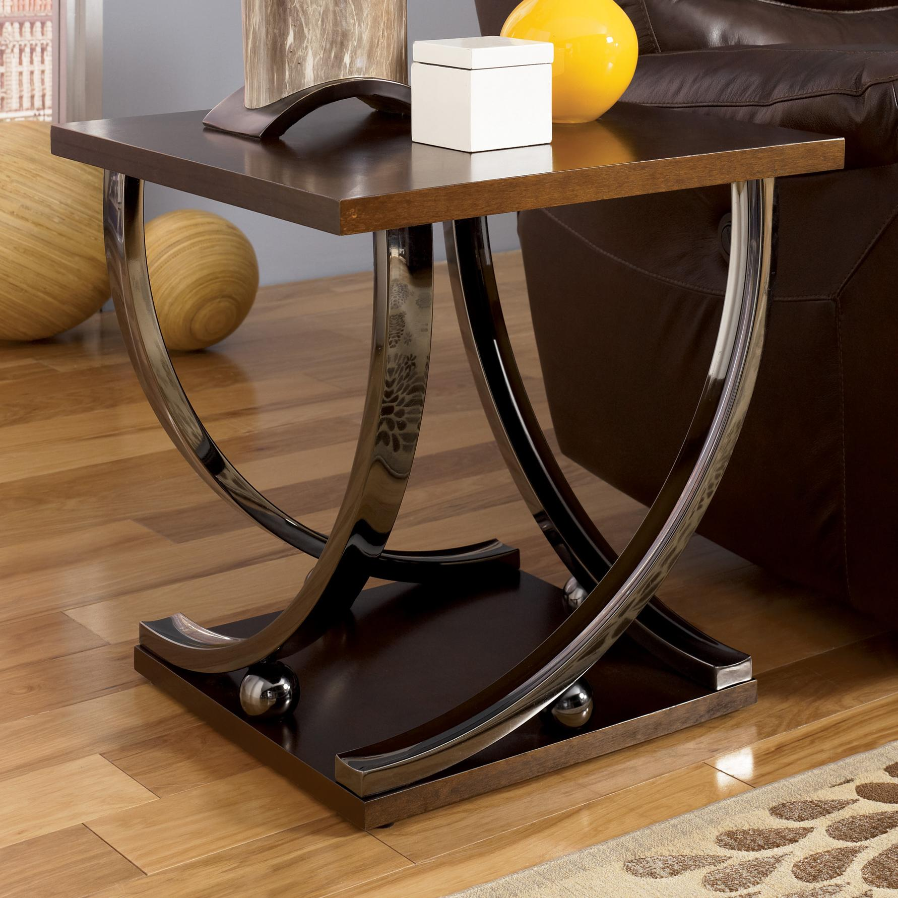 Signature Design by Ashley Rollins Square End Table - Item Number: T628-2